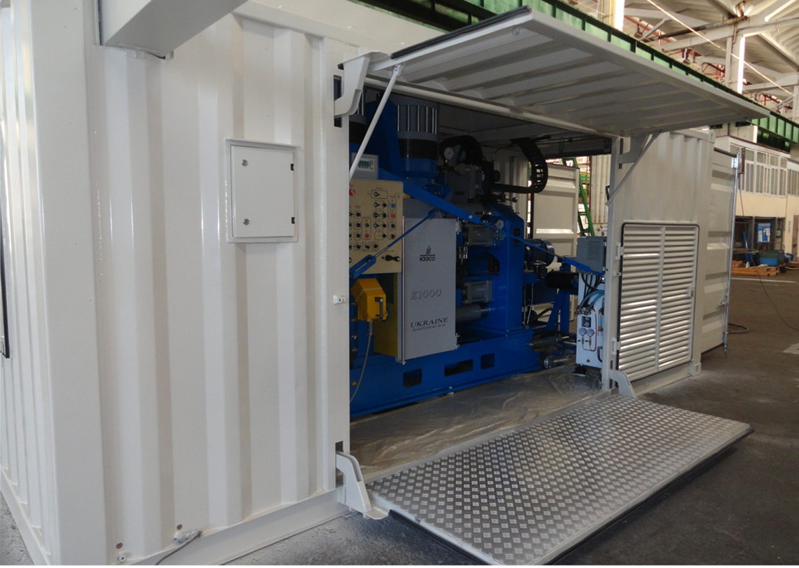 Mobile container complex based on the K1000 welding machine
