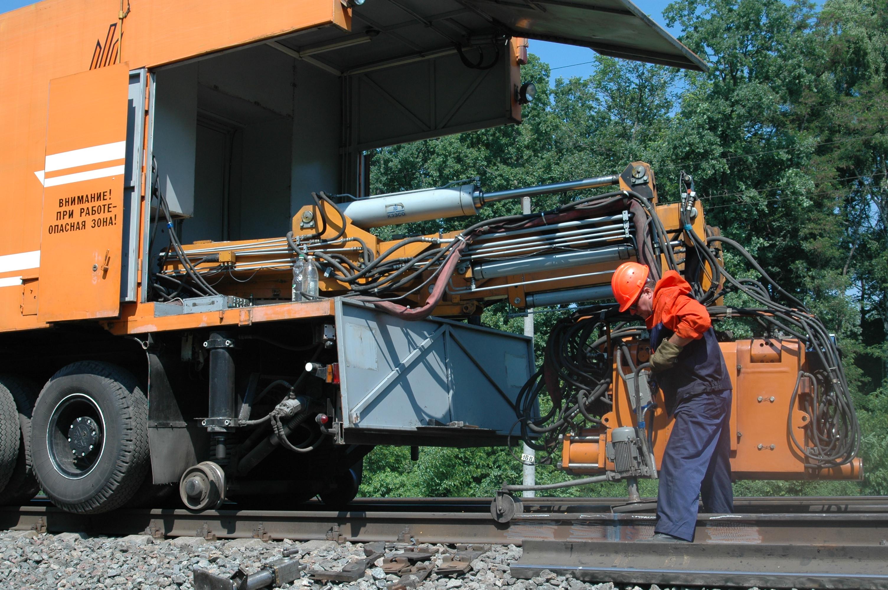 Repair Of KСМ005 With Suspended Rail-welding Machine К922-1